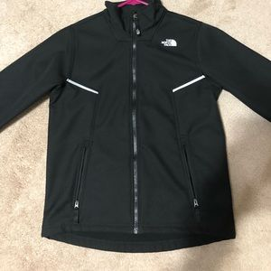 Black North Face jacket for boys. Size LG (14/16)
